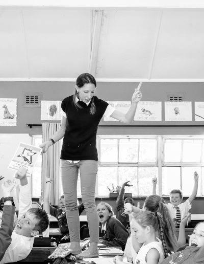 Mrs Sally Cahill gets the point across, Senior Primary Academic Communication, Grade 6 teacher & tutor