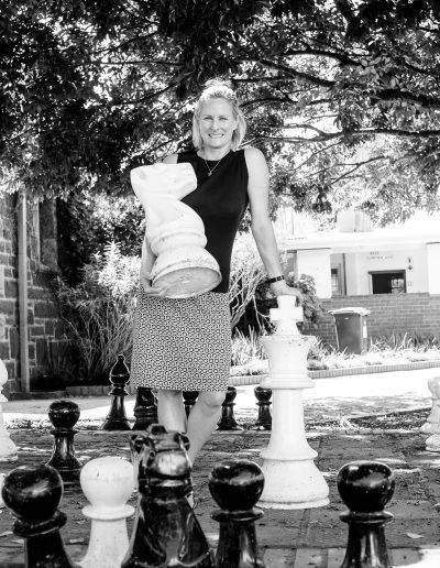 Checkmate! Mrs Sandi Strudwick, our Grade 5 teacher