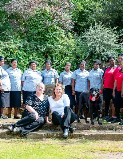Capitol Caterers Cleaning Team - Gabby, Mavis, Flossie, Gloria, Prisca, Mbali, Thanda, Bongi, Thembi, Dudu, Nelly, Thandi M, Homestar, Monique & Santanna